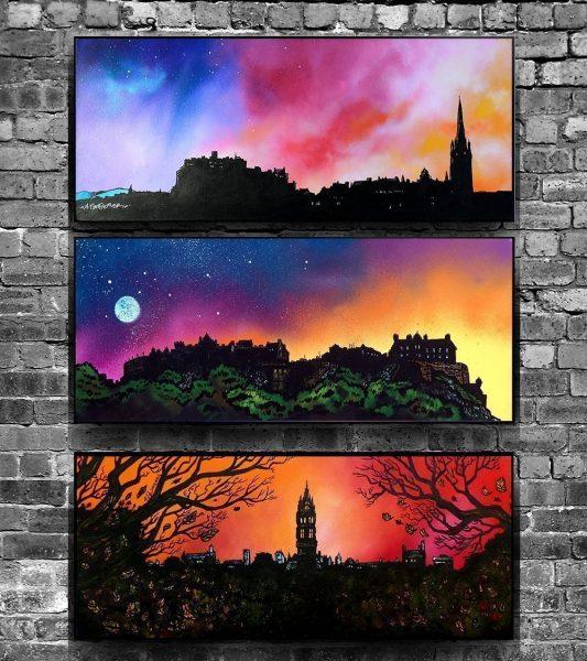 Edinburgh & Glasgow University - PVC Float Mounted prints ofScottish landscape paintings by A Peutherer