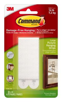 No nails required picture hanging system by 3M/Command