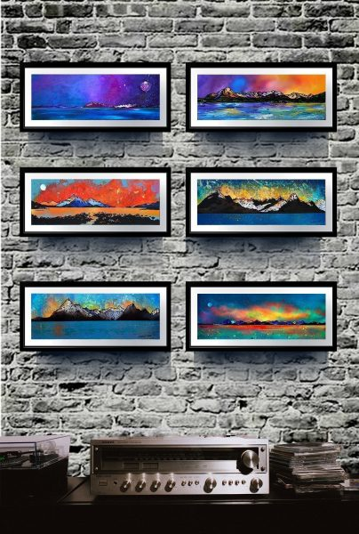 Isle Of Skye - Small framed Scottish landscape prints.