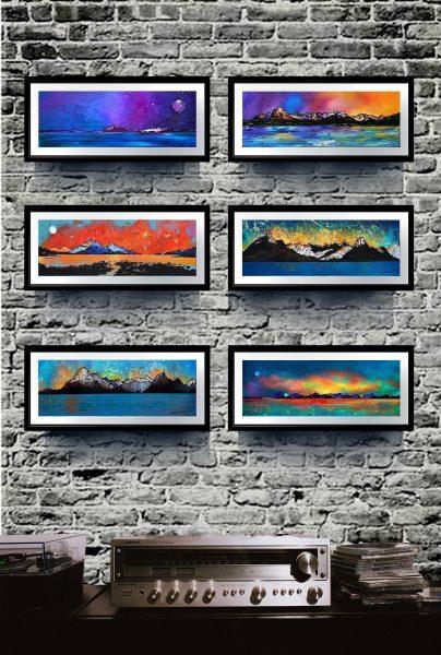 Isle Of Skye - Small framed Scottish landscape prints.
