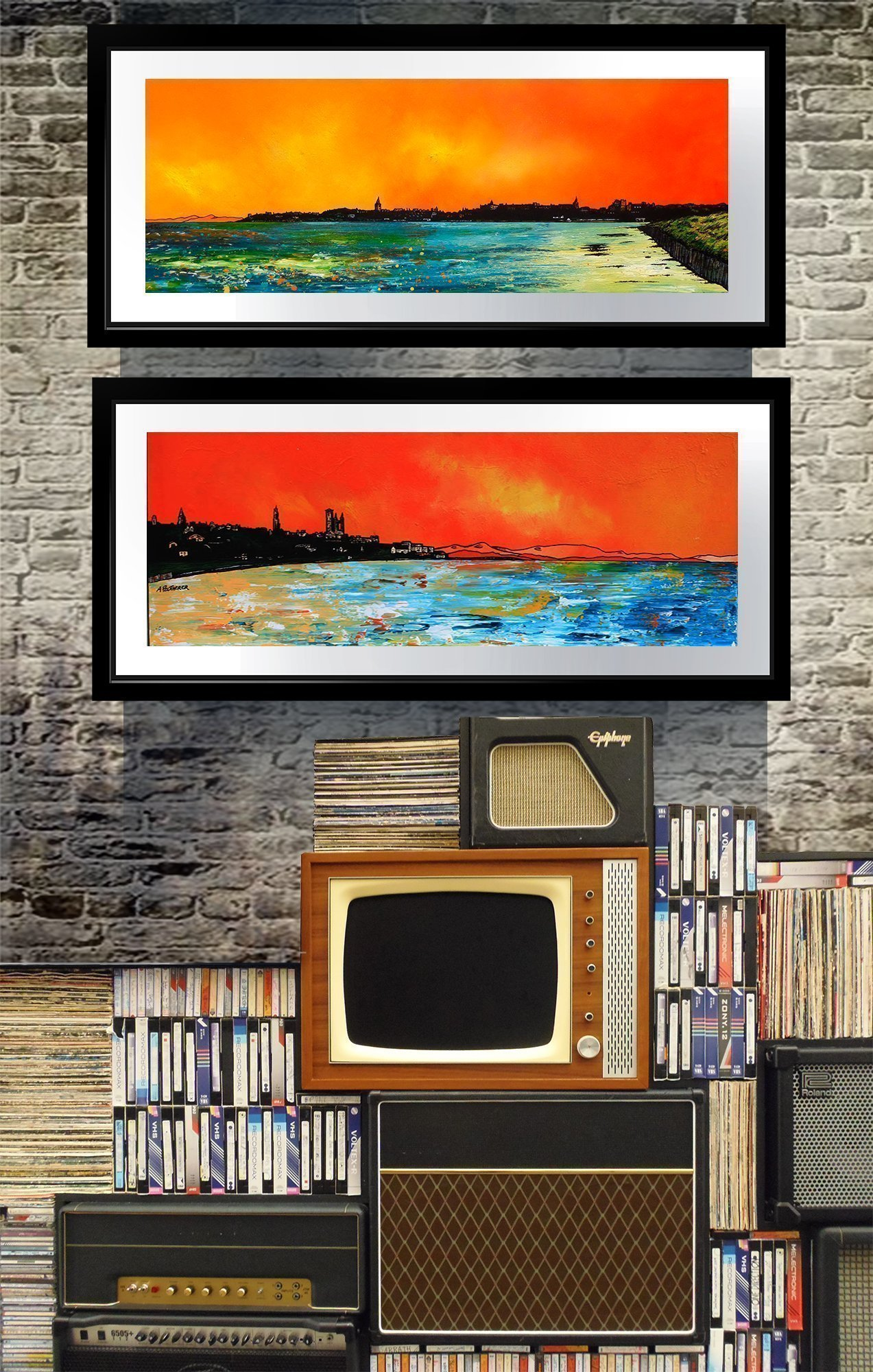 St Andrews framed prints of Scottish landscape paintins by Andy Peutherer