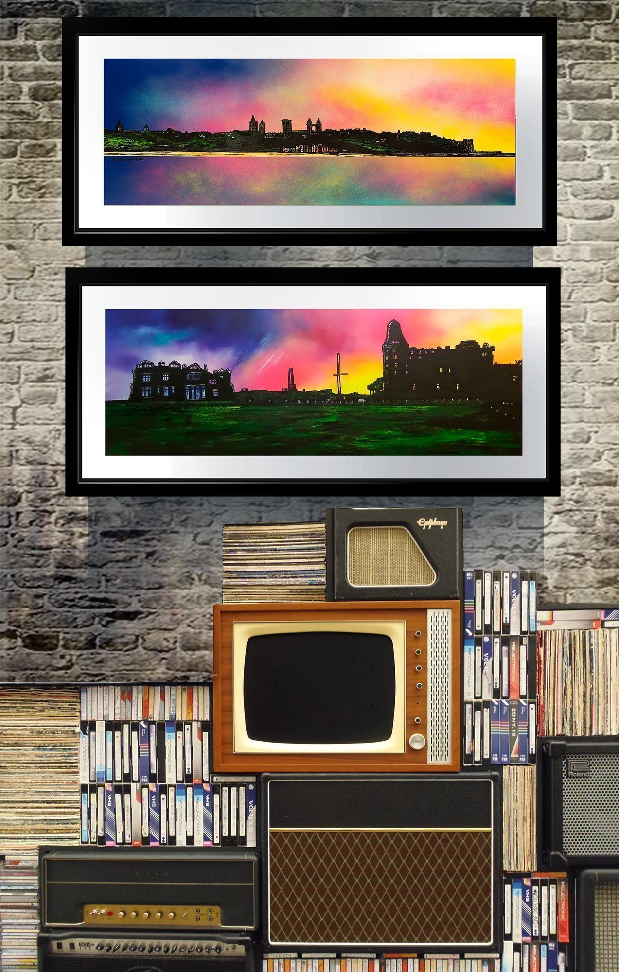 St Andrews - framed prints of Scottish landscape paintings by Andy Peutherer