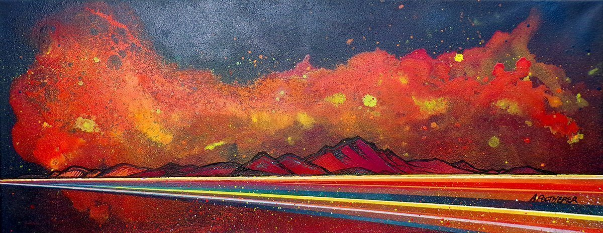 Painting & prints of Arran Sunset by Artist A.Peutherer