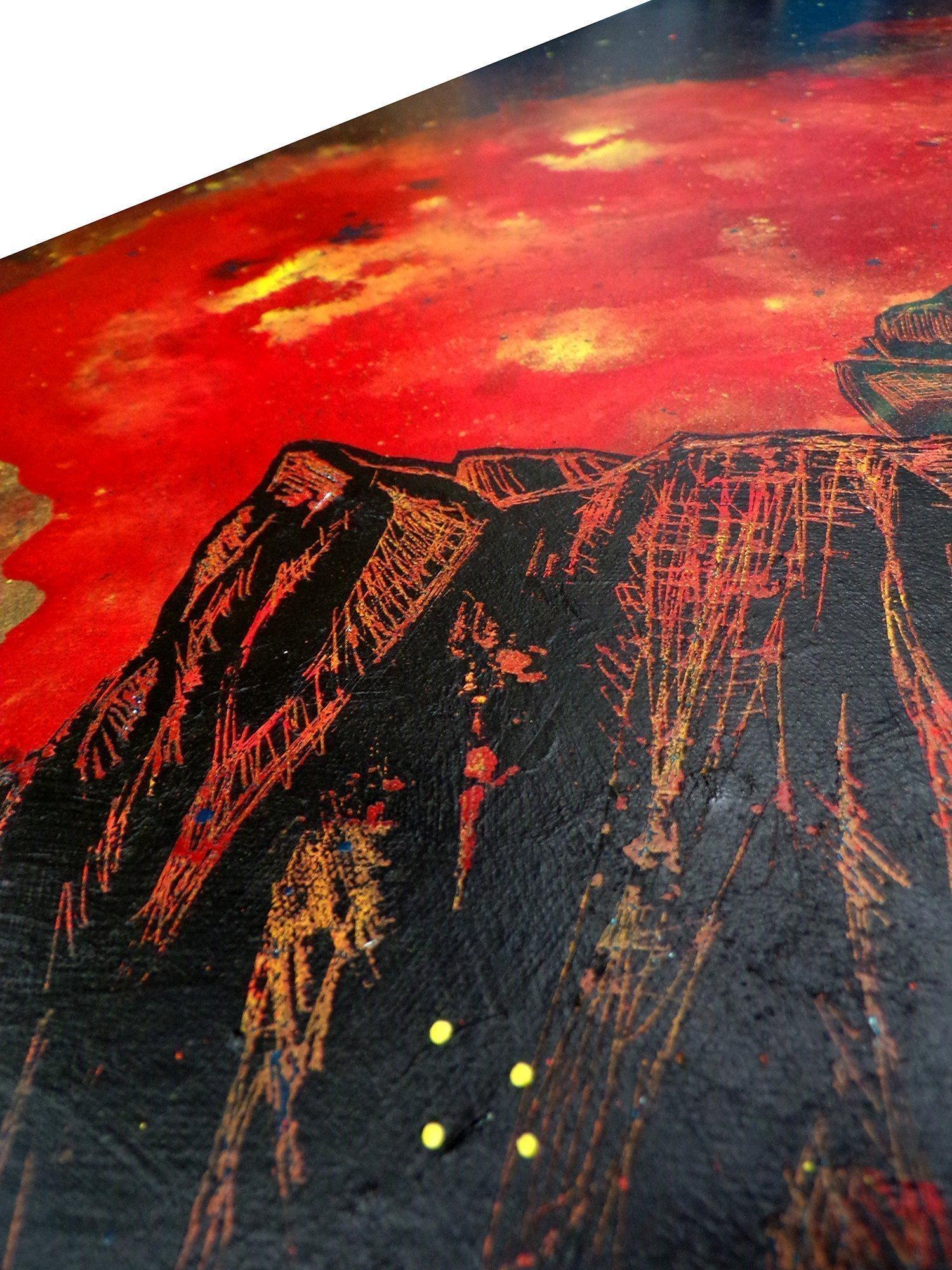 Sgurr Alasdair painting Detail 4