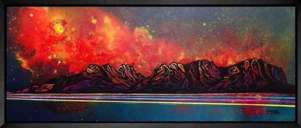 Framed painting of Torridon & Liathach, Scotland