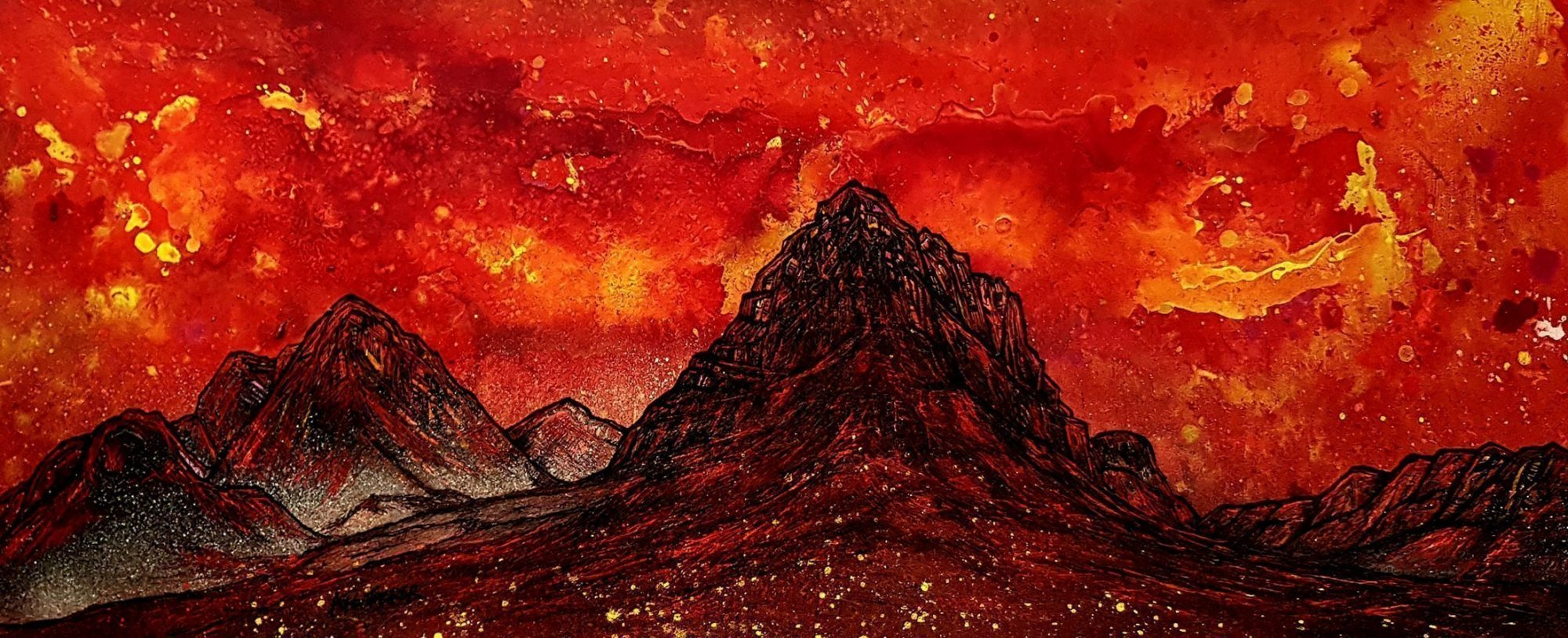 Buachaille Etive Mor, Glencoe, Rannoch Moor, Scottish Highlands - Original painting & Prints