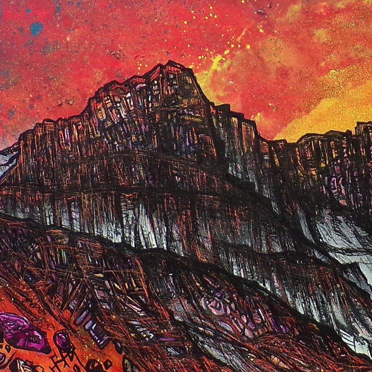Glencoe, Scottish Highlands Landscape painting - Closeup