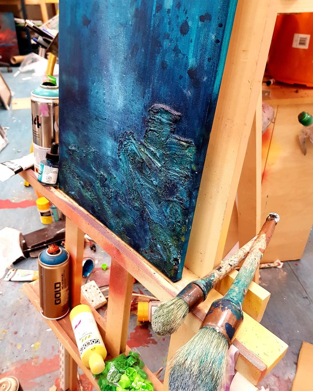 Coral Beach, Skye - Original painting In the studio 1