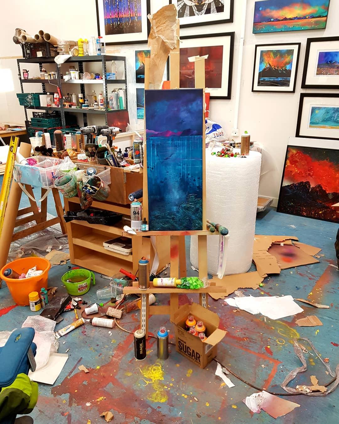 Coral Beach, Skye - Original painting In the studio 2