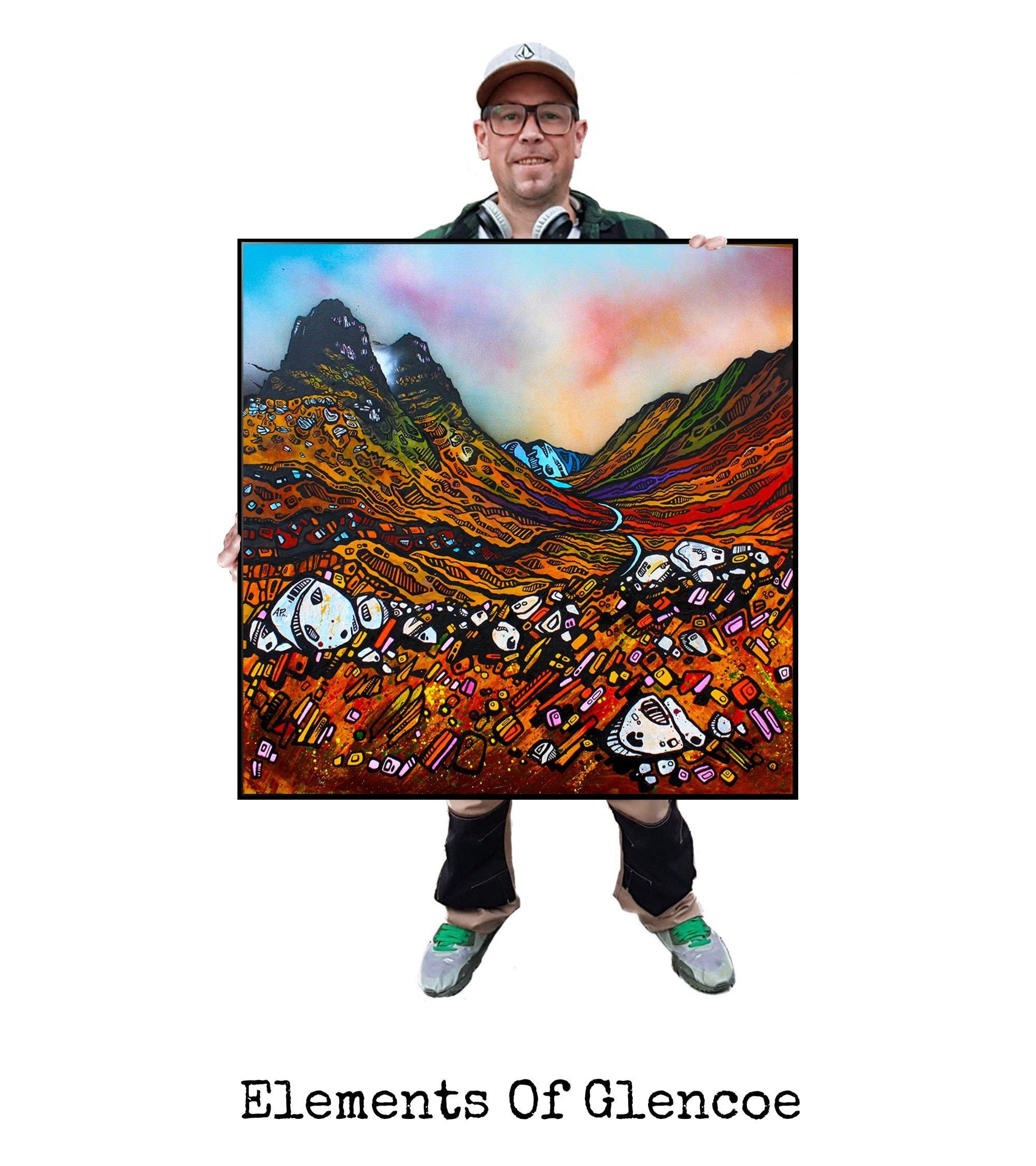Glencoe, Three Sisters - Art Print / Painting - Canvas, Block Mounted or Framed