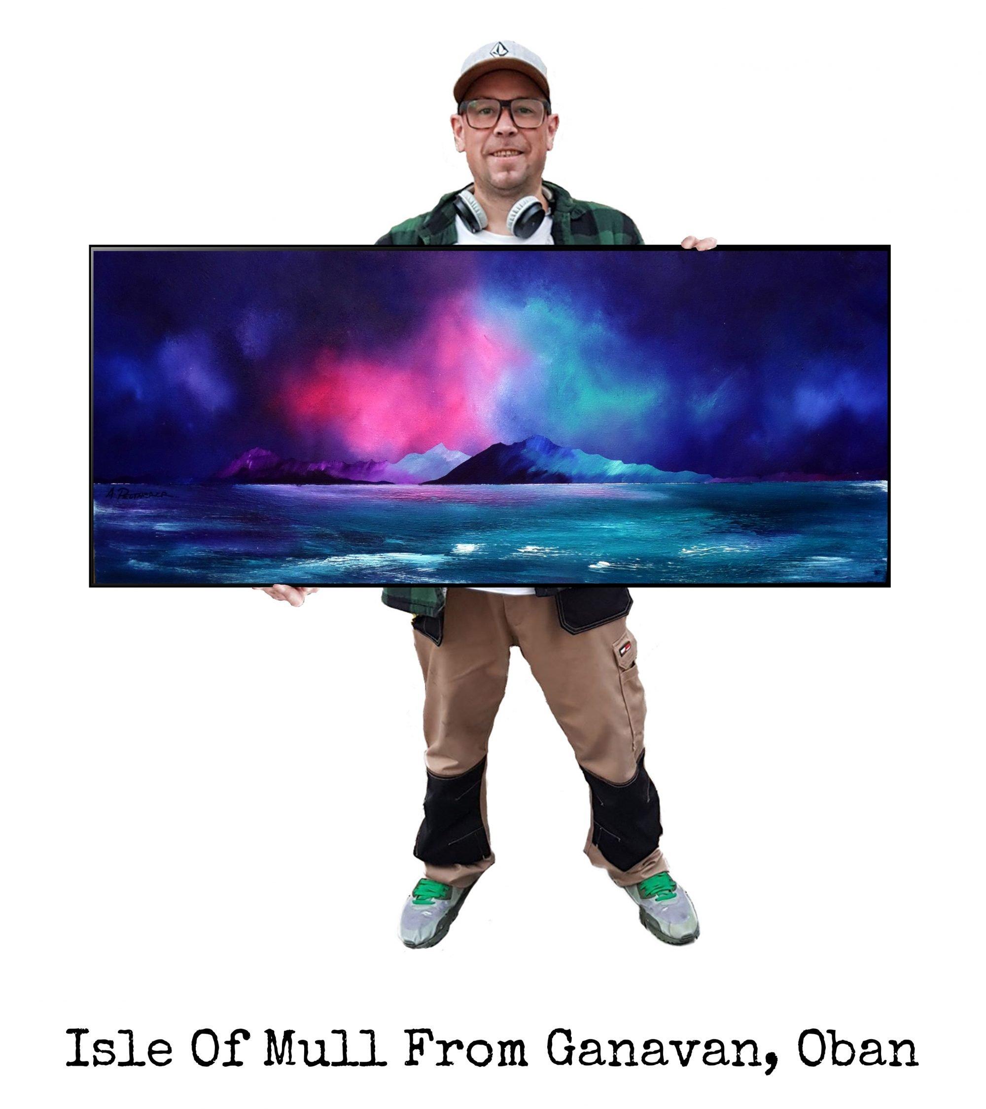 Oban, Ganavan Beach - Art Print / Painting - Canvas, Block Mounted or Framed