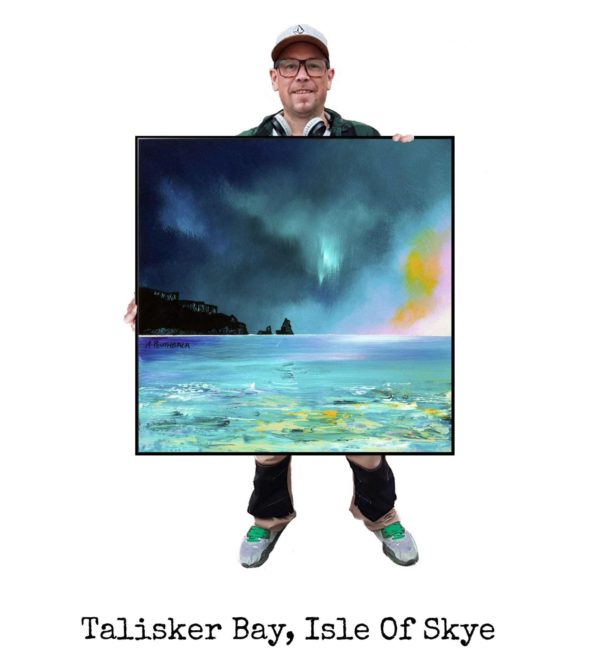 Talisker Bay, Skye - Art Print / Painting - Canvas, Block Mounted Or Framed