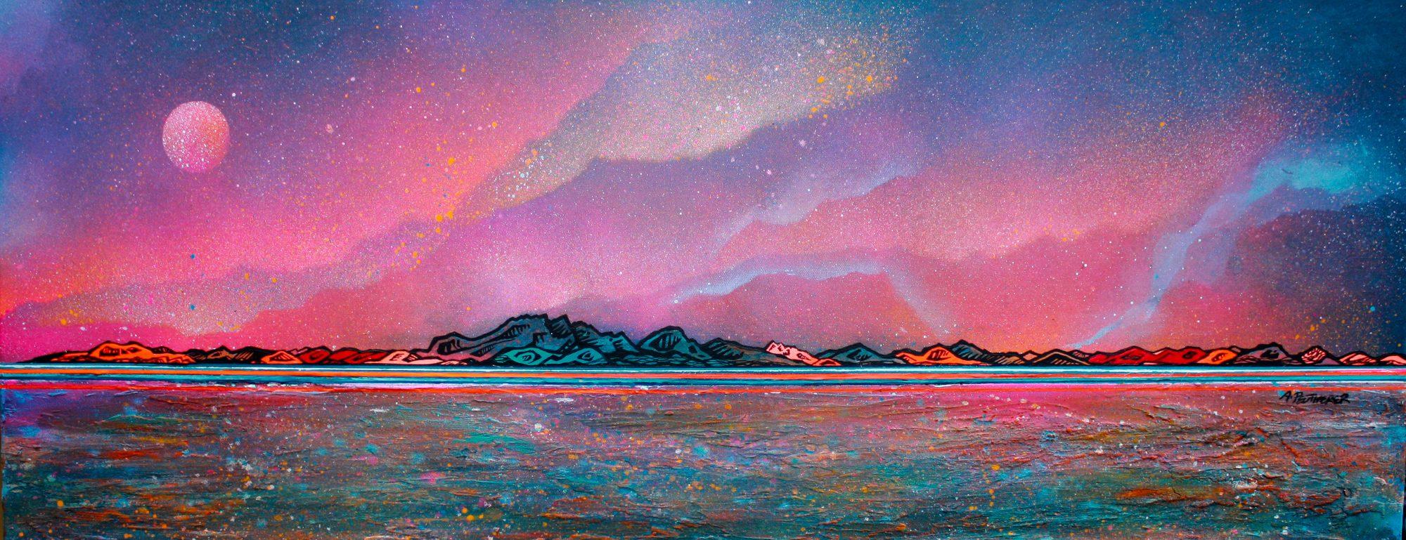 Isle Of Arran - original Painting Canvas & Art Prints - 3D View