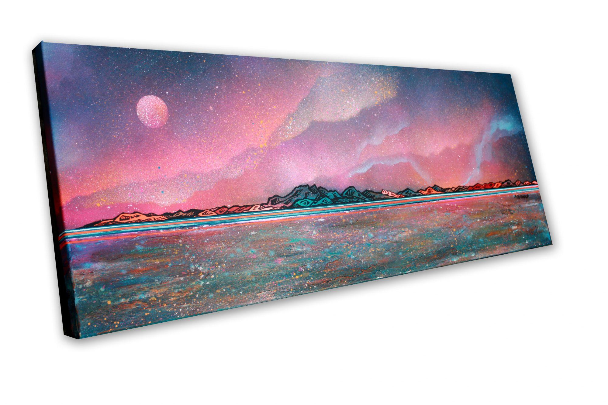 Arran - original Painting Canvas & Art Prints Of The Hebrides - 3D View 2