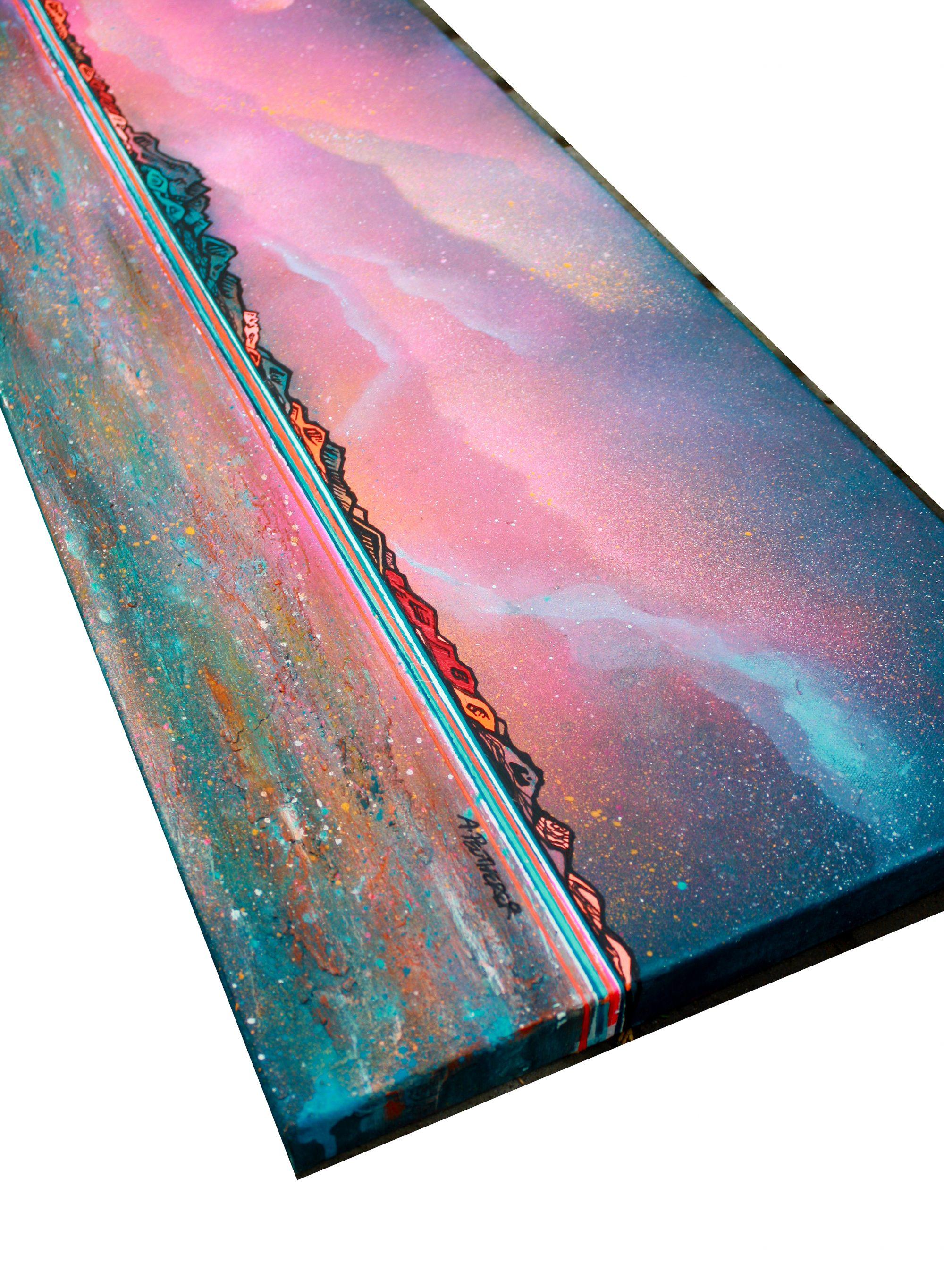 Arran - original Painting Canvas & Art Prints Of The Hebrides - 3D View