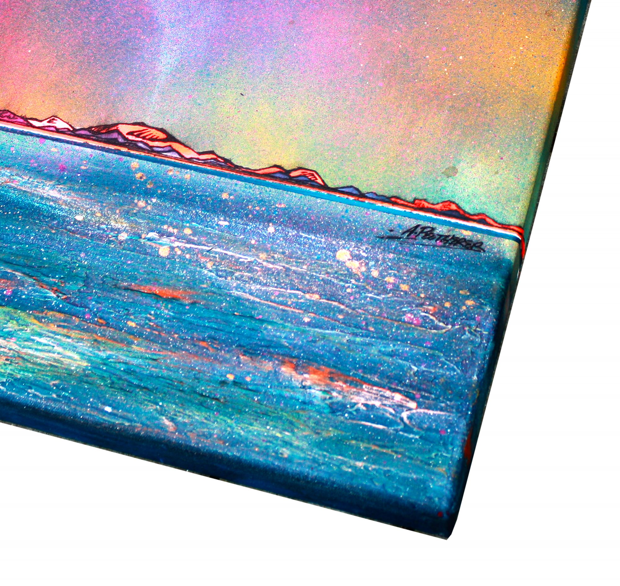 Outer Hebrides Flow, Scotland - original Painting Canvas & Art Prints Of Scottish The Outer Hebrides - Canvas Detail 1
