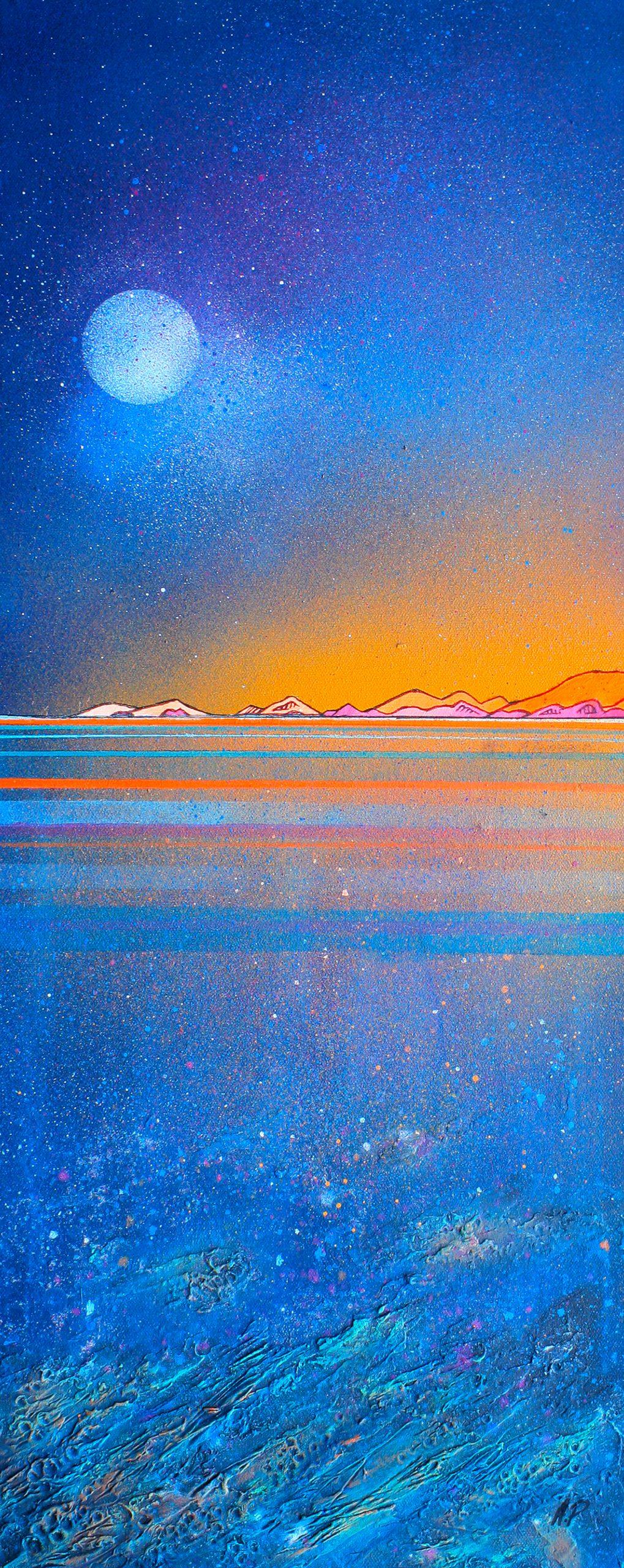 Coral Beach, Skye, Scottish Hebrides - Original canvas painting & art prints
