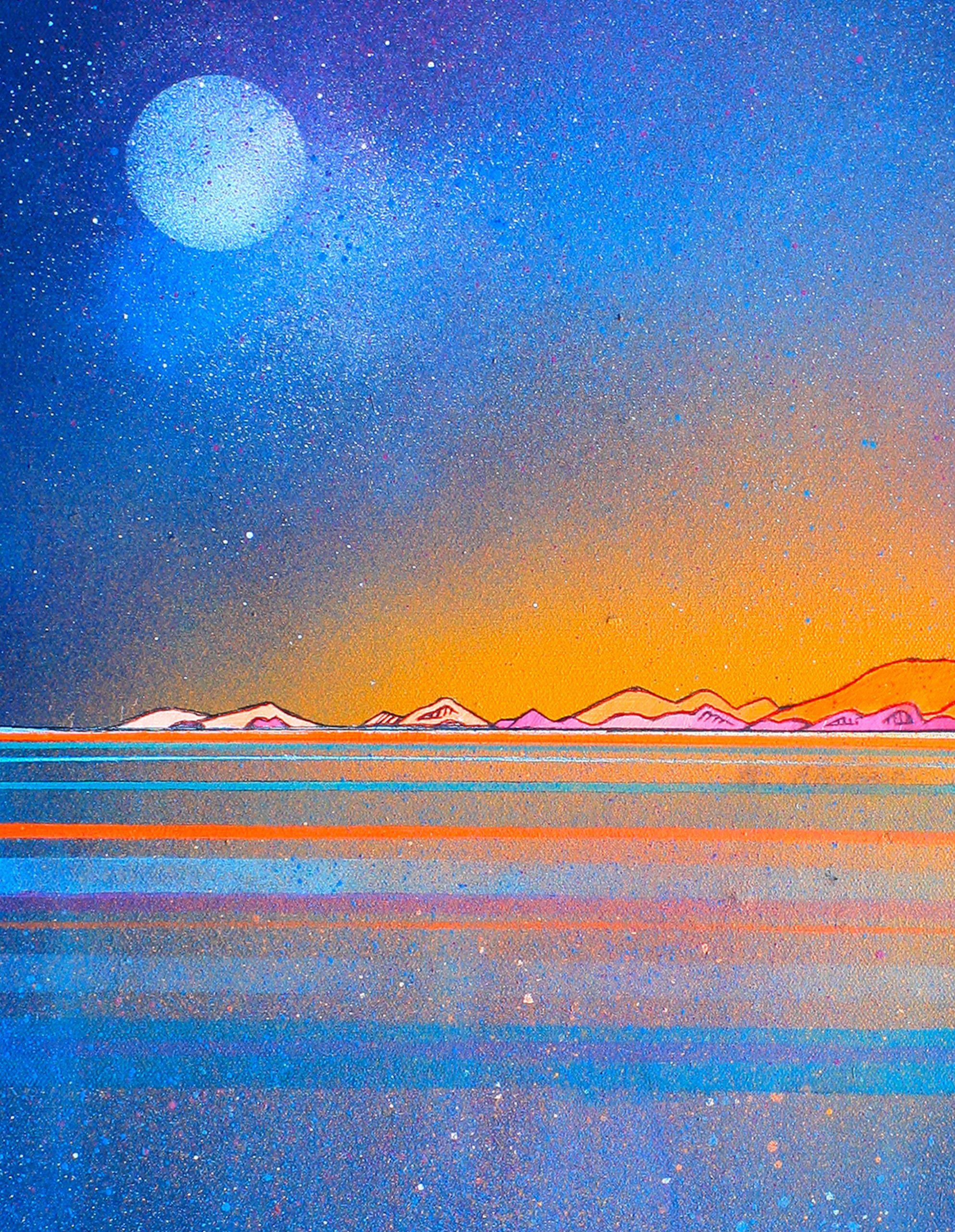 Coral Beach, Skye, Scottish Hebrides - Original canvas painting detail & art prints - 2