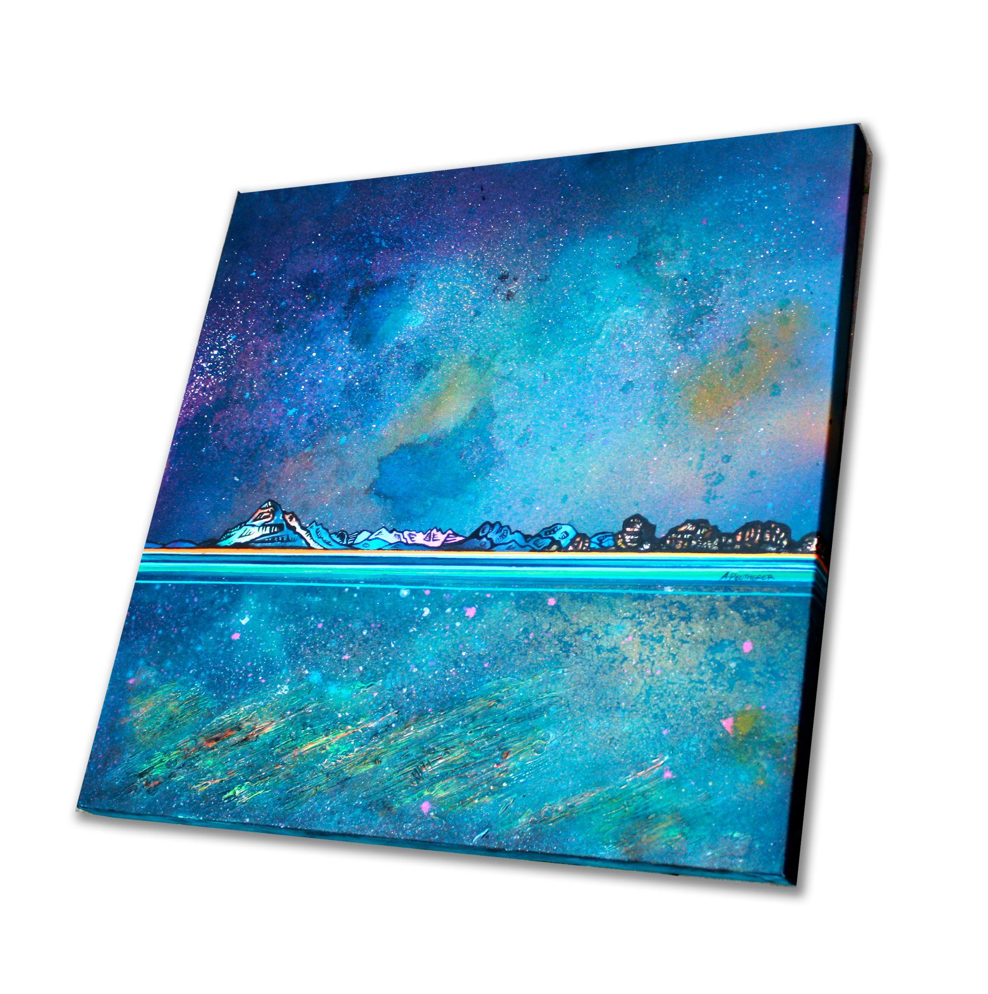 Skye , Cuillin- Original painting on canvas & art prints - Canvas detail - 3D Texture View