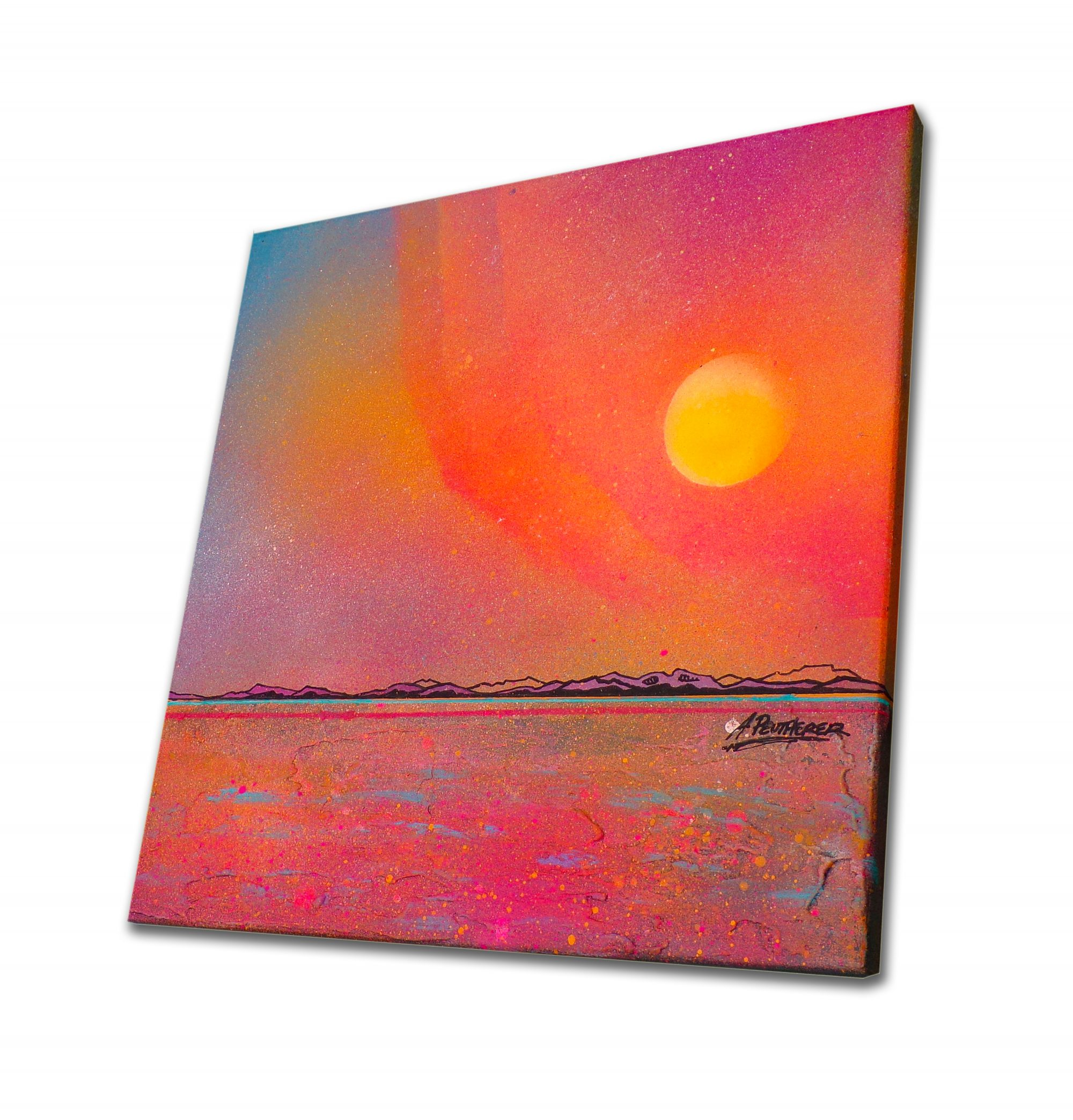 Isle Of Arran, Ayrshire, Scotland - original Painting Canvas & Art Prints - 3D View 3