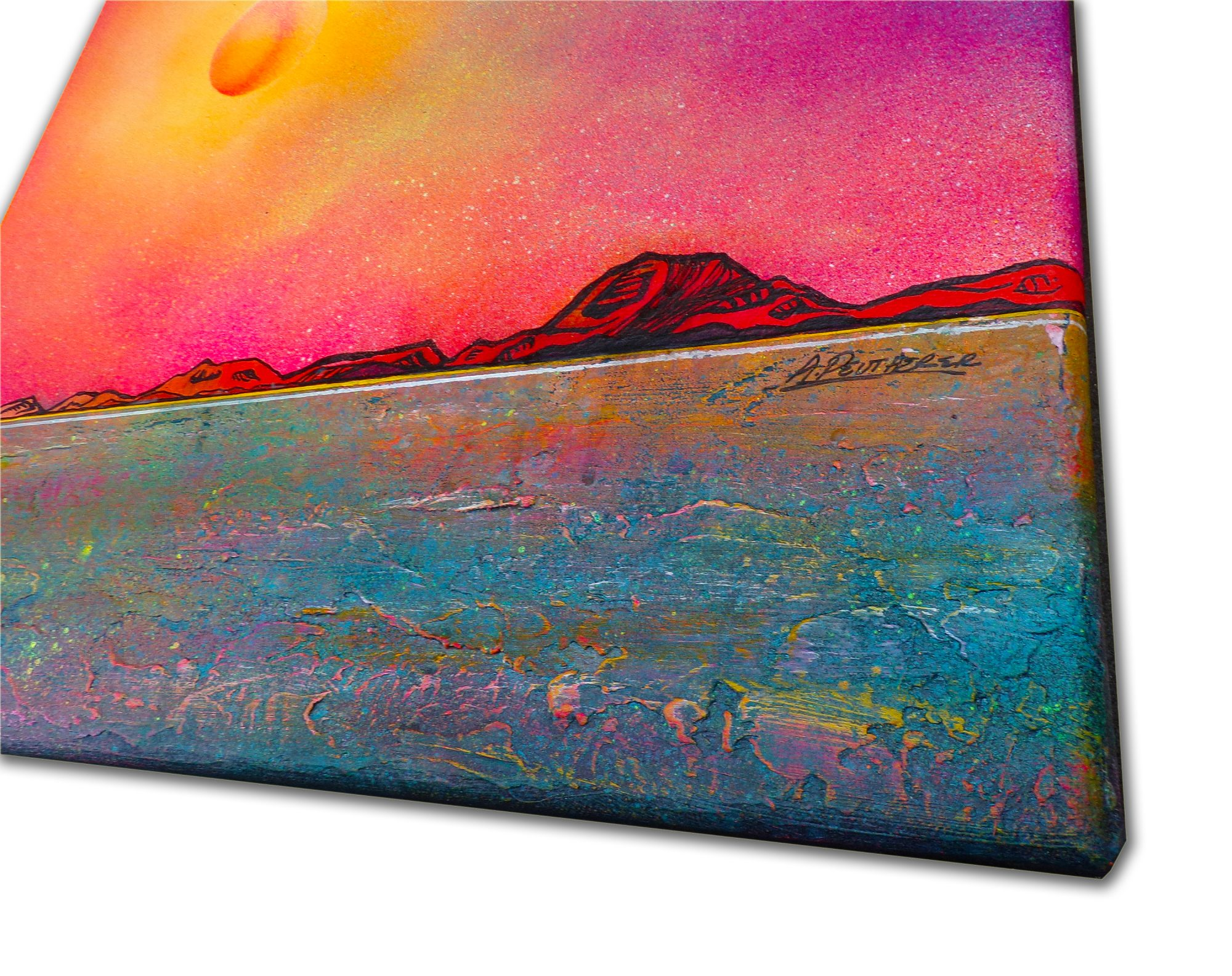 Ben More, Isle Of Mull, Hebrides, Scotland - original Painting Canvas & Art Prints - 3D Detail View
