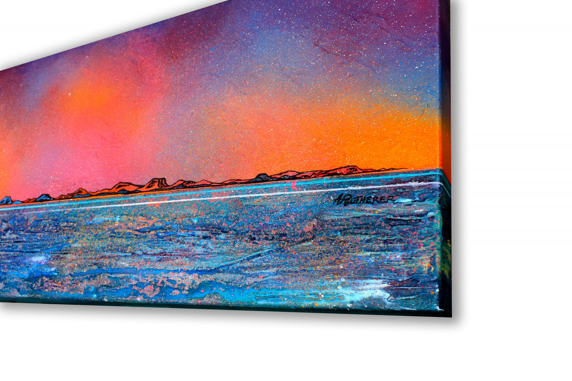 Isle Of Harris- original Painting Canvas & Art Prints Of Outer Hebrides - 3D View