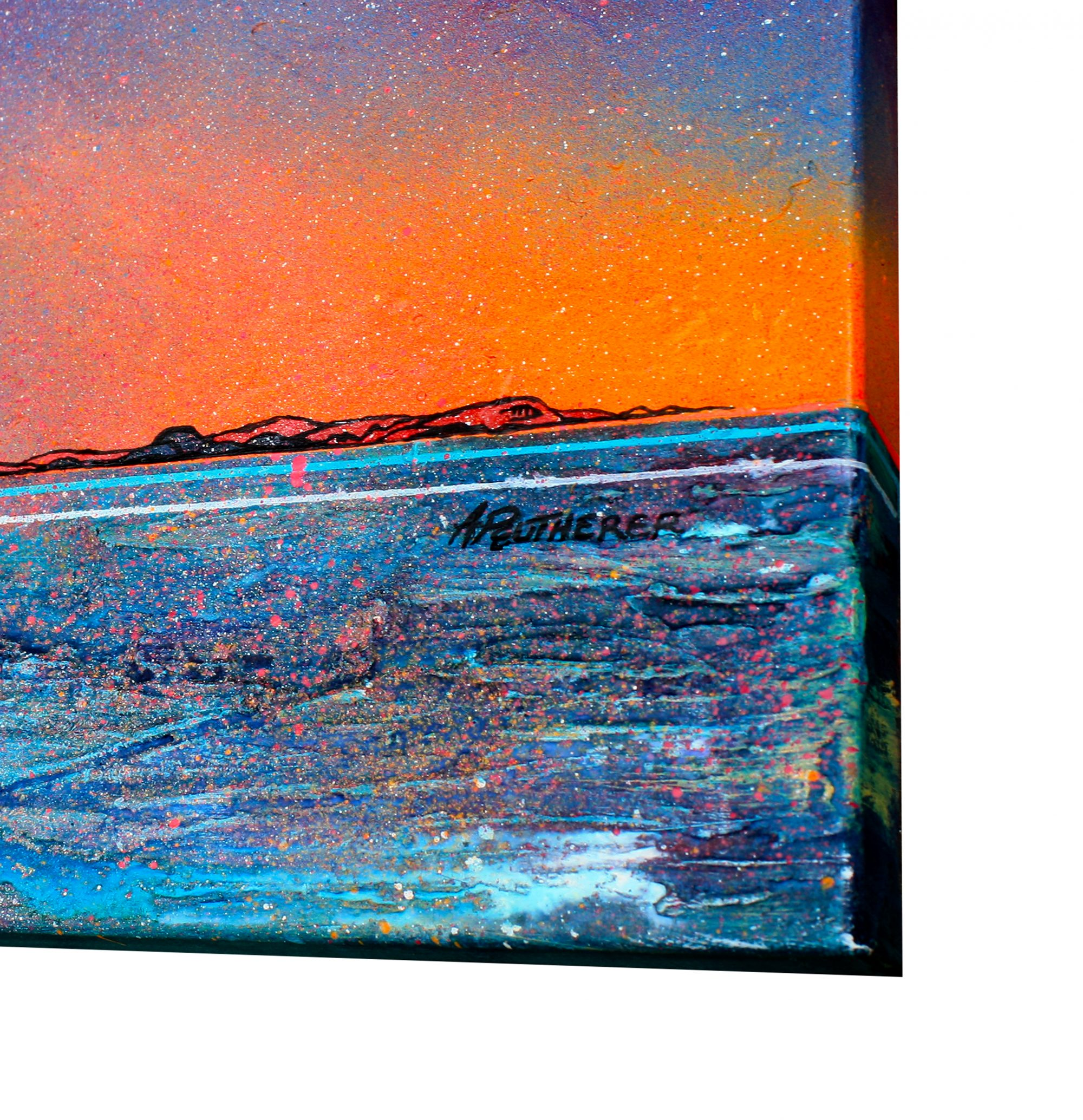 Isle Of Harris- original Painting Canvas & Art Prints Of Outer Hebrides - 3D Signature View