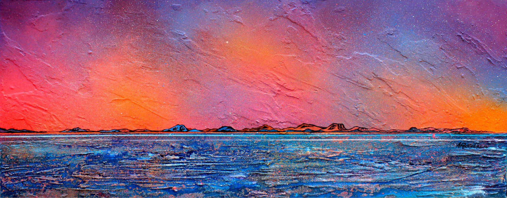 Isle Of Harris Haze, Outer Hebrides, Scotland - original Painting Canvas & Art Prints