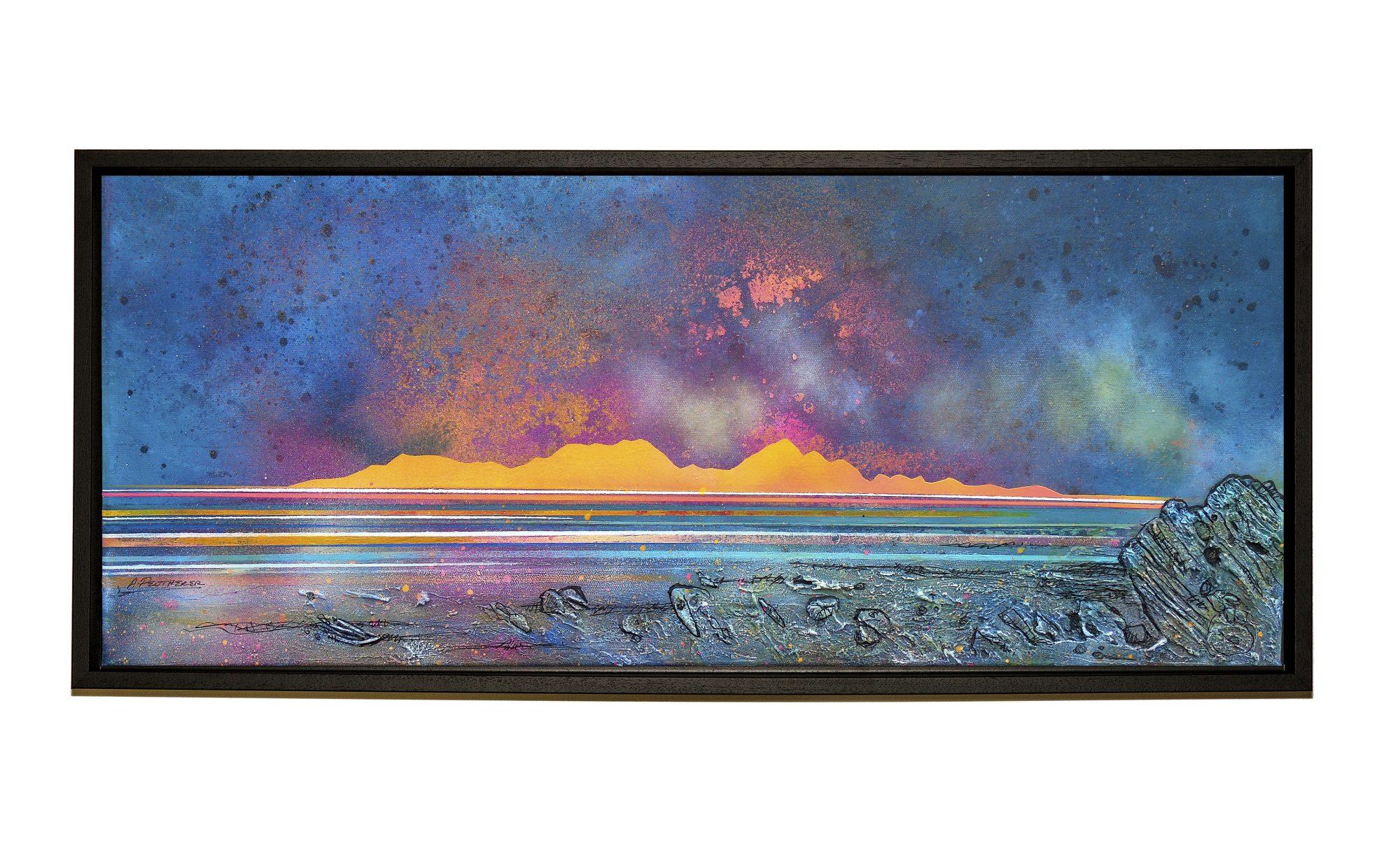 Sanna Bay & Rum Framed Painting & Prints - Black