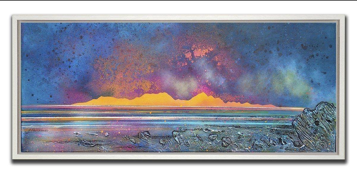 Sanna Bay & Rum Framed Painting & Prints - White